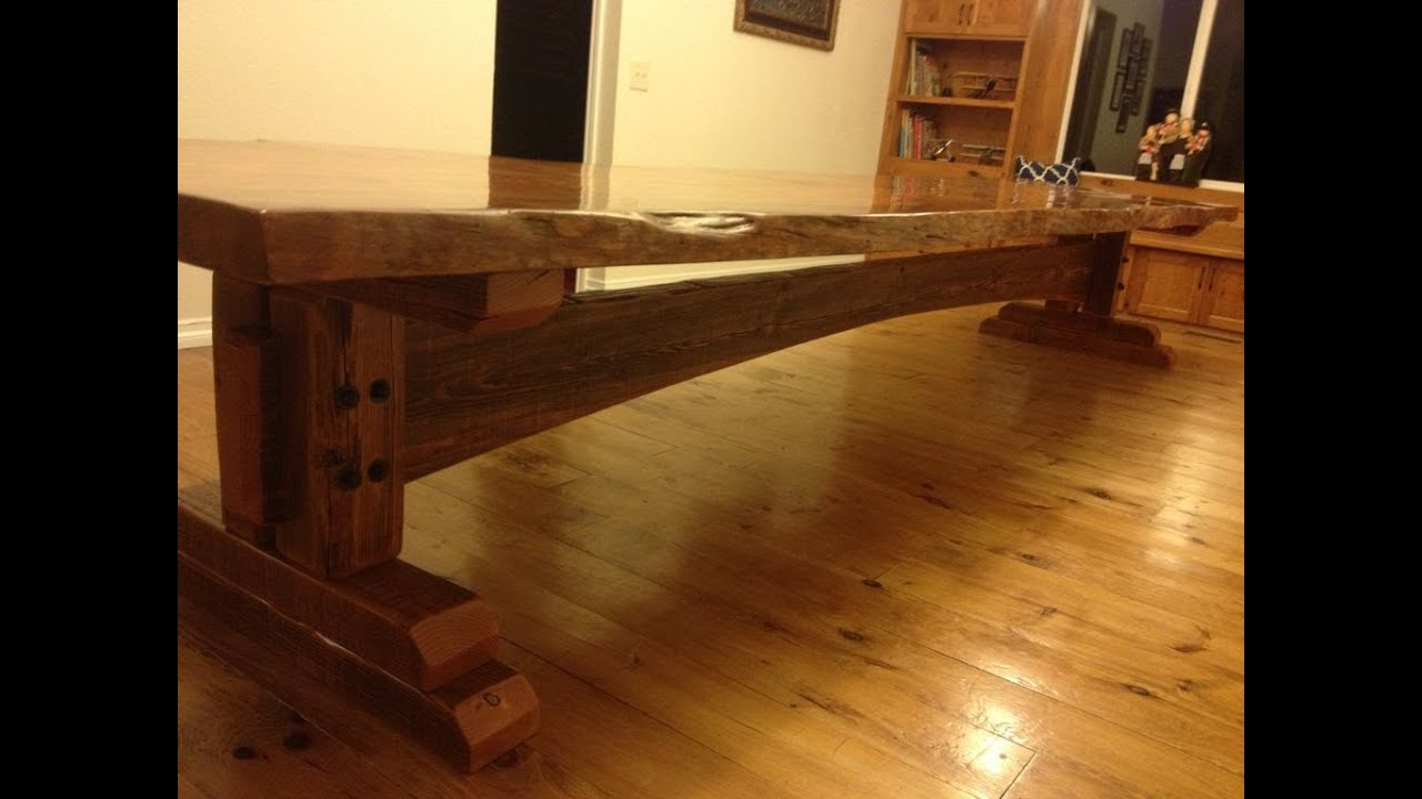 Building a farm table youtube for Building a farmhouse