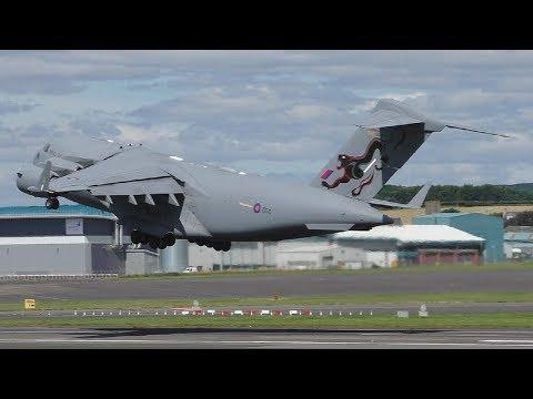 Saxon Warrior Movements at Prestwick Airport | C17s & C130s & More