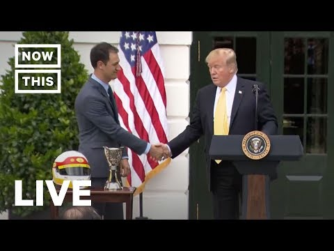 Trump Meets With NASCAR's Joey Logano at White House | NowThis
