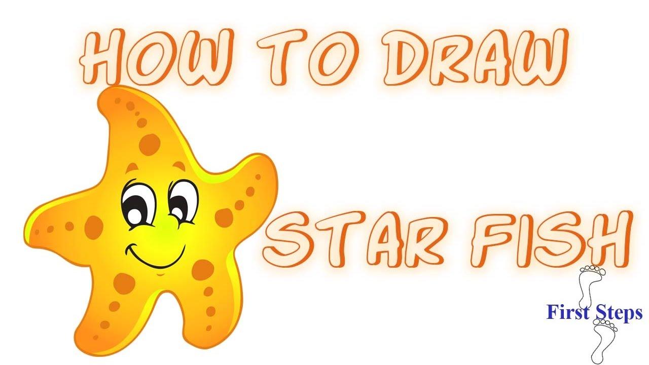 تعليم الرسم للأطفال How To Draw Star Fish For Kids Arabic Youtube