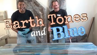 DIY Epoxy Countertop Using Stonecoat Countertop Epoxy- Earth Tones and Blue