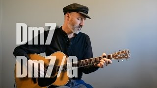 Dm7, Dm7/G Chord - Guitar Lesson