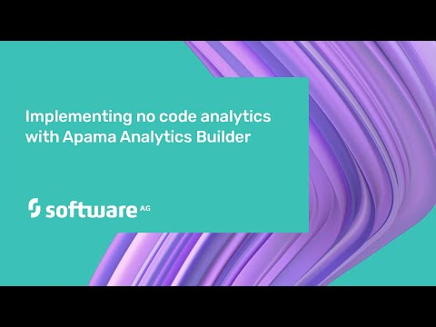 Implementing no code analytics with Apama Analytics Builder
