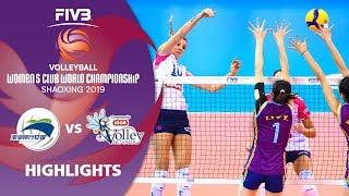 Tianjin vs. Novara - Highlights   Women's Volleyball Club World Champs 2019