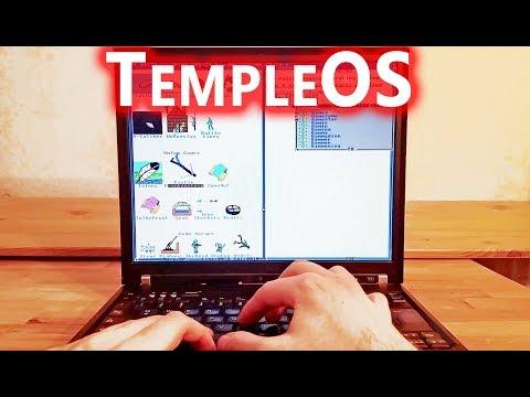 TempleOS on real hardware Thinkpad T60  RIP Terry Davis