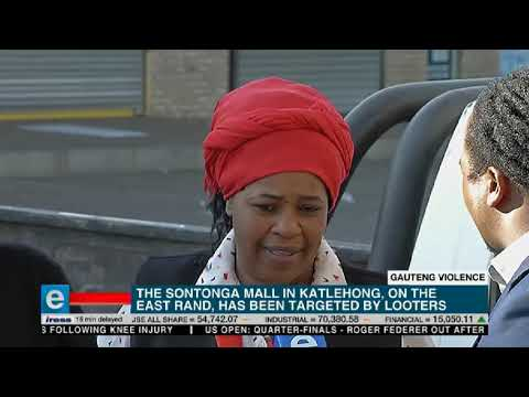 Looting has continued overnight in parts of Gauteng