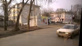 Город Киров из окна автобуса 21 автобусный маршрут 15 апреля 2015 года Талица   Макарье   Макарьевск
