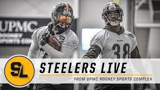Stevan Ridley & Jaylen Samuels Practicing Reps as Starting RB | Steelers Live