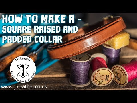 How To Raise Leather - Square Raised, Advanced Dog Collar Tutorial, Raised Leather Techniques