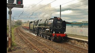 BR Pacific No 70000 Britannia  +Jubilee No 45690 'Leander' On Rail Tours Through Penrith - 18 May19