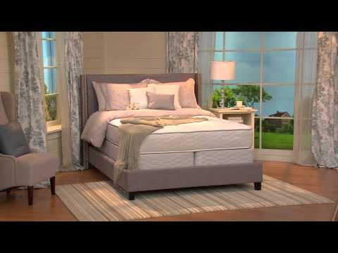 "Serta Allurement 11.5"" Plush Top Cal King Mattress Set with Mary Beth Roe"