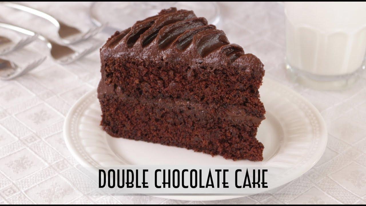 Double Chocolate Cake | with Old Fashion Cooked Chocolate Fudge Frosting