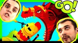 ДРАКОН, Болтушка и ПРоХоДиМеЦ в Погоне за ЗОЛОТОМ 402 Мультик игра Dragon Hills