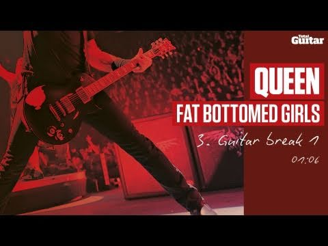 Guitar Lesson: Queen 'Fat Bottomed Girls' -- Part Three -- Guitar Break 1 (TG216)