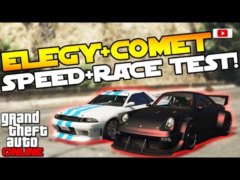 GTA 5 Online Import/Export Update: 🚘😲Comet + Elegy Retro Custom Speed + Race Test!🚘😲 [PS4 Gameplay]