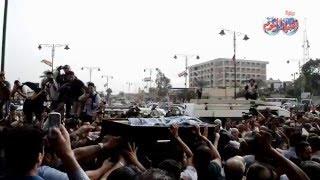 """لحظة تشييع جثمان """"وائل نور"""" من مسجد السيدة نفسية"""