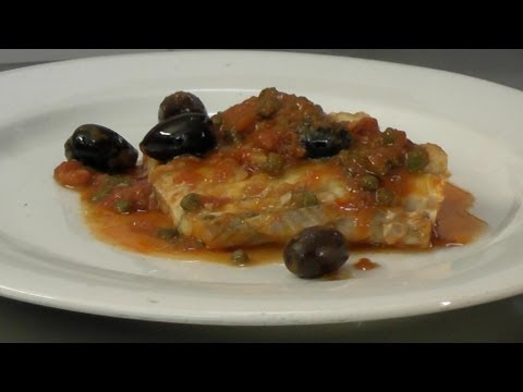 FISH WITH TOMATO, OLIVES AND CAPERS (LIVORNESE STYLE) - Theitaliancookingclass.com
