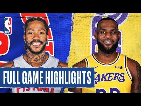 PISTONS at LAKERS | FULL GAME HIGHLIGHTS | January 5, 2020