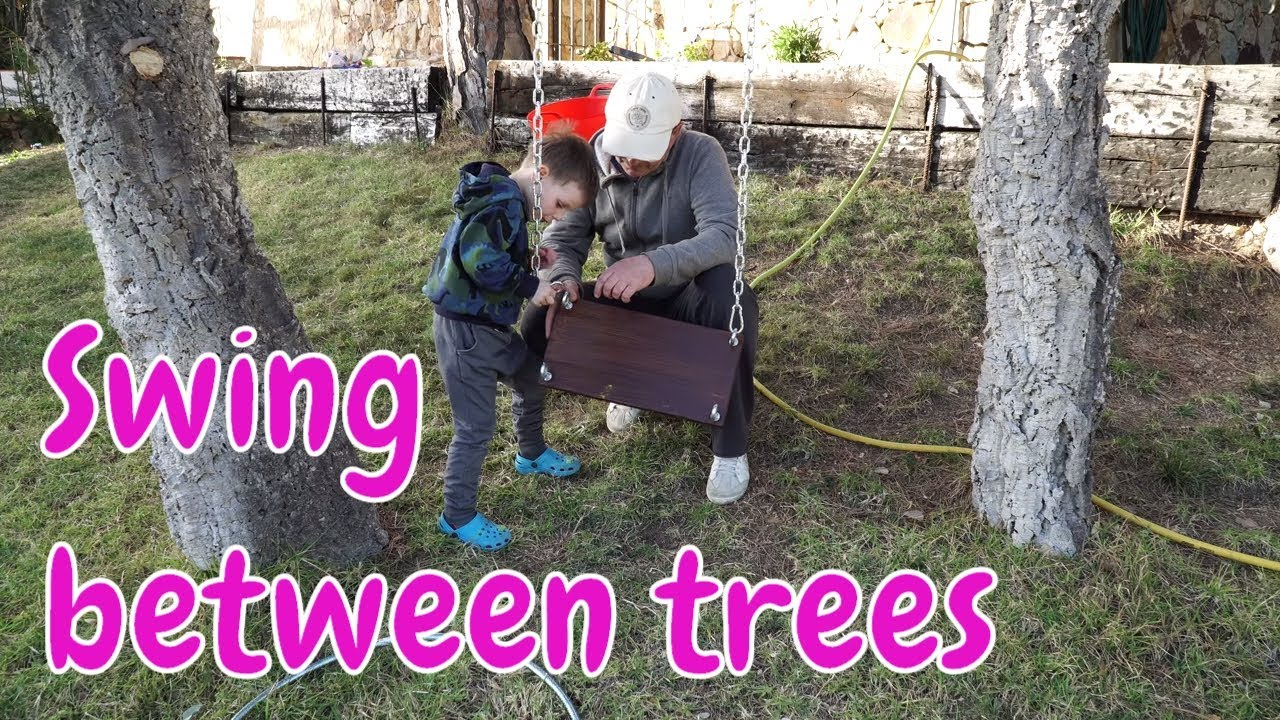 How To Make A Swing Between Two Trees
