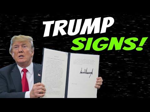 Trump Signs! Second Stimulus Check Update & Stimulus Package Update