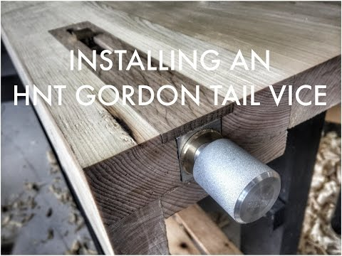 Installing an HNT GORDON Tail Vice at the Unplugged Woodshop Toronto