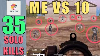 Rambo is Back in World War | 35 SOLO KILLS! | SOLO SQUAD | PUBG Mobile