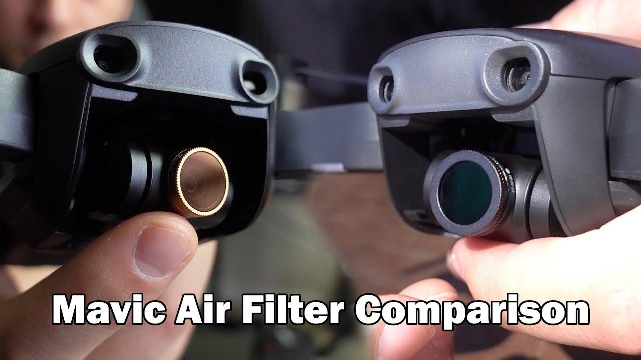 Mavic Air Filter Comparison Polarpro Vs Freewell Gear Youtube