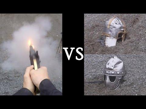 Guns vs. Medieval Helmets - From Black Powder to Modern Cartridges