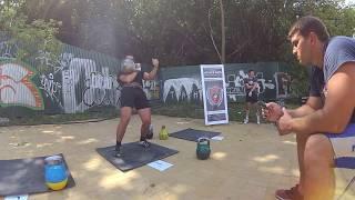 Толчок Гордеевской гири 50 кг - 53 раза
