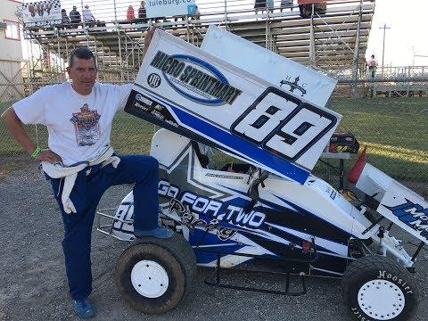 #89 Micro Sprint car John Modderman Delta Speedway 07-29-2017