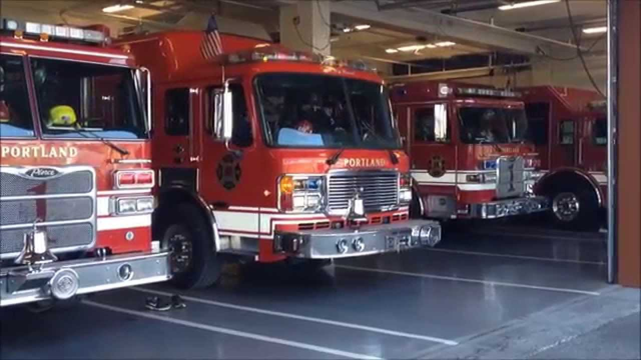 Portland Fire & Rescue Squad 1 Responding - YouTube