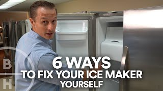 Ice Maker Not Working?  Check these 6 Things first!