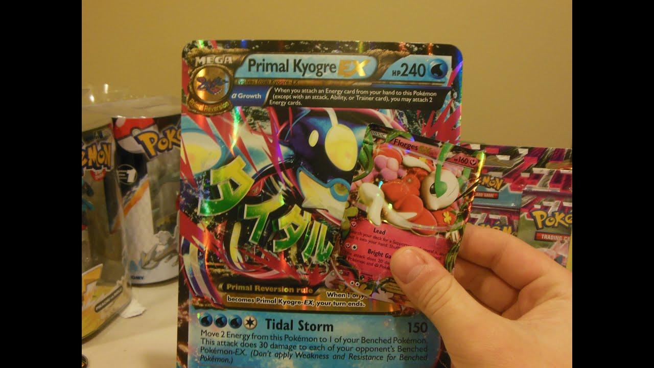 Primal Kyogre Card hoenn collection box: primal kyogre ex - great pull - pokemon xy