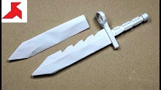 как сделать нож из бумаги видео бесплатно