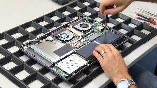 Displaytausch IPS Notebook-Display -  Reparatur beim Asus N550 Notebook