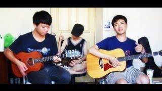 玖壹壹(洋蔥)-癡情的男子漢 ft UnderLover(睿兒)Remix周杰倫-明明就 吉他 翻唱(Billy Huang X AmosX Mr.Green Acoustic cover)