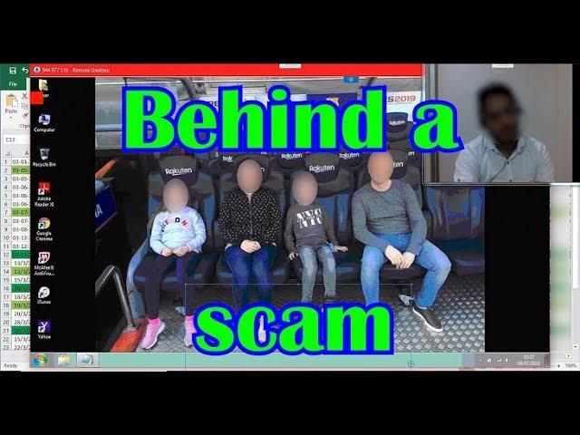 Behind a scam