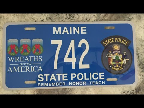 Maine State Troopers' former license plate found in Wyoming collection