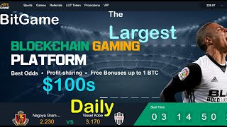 BitGame, The largest Blockchain Based Play-To-Earn Platform.