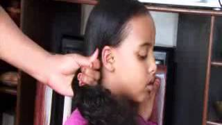 Simple Braiding Plus Side Swift Hairstyle with rainbow color hair bands