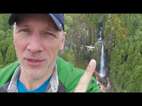 Exploring a HIDDEN waterfall with the Phantom 4 Pro, Sao Miguel, Azores, Portugal