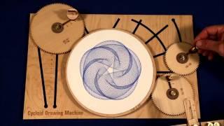 Repeat youtube video Joe Freedman's Amazing Cycloid Drawing Machine