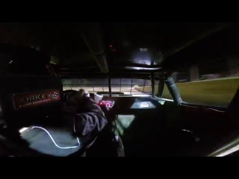 Hot laps in car Plumerville Speedway. 5-6-2016