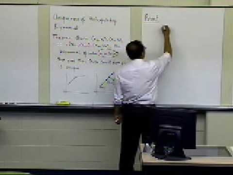 Uniqueness of Interpolating Polynomial: Part 1 of 2