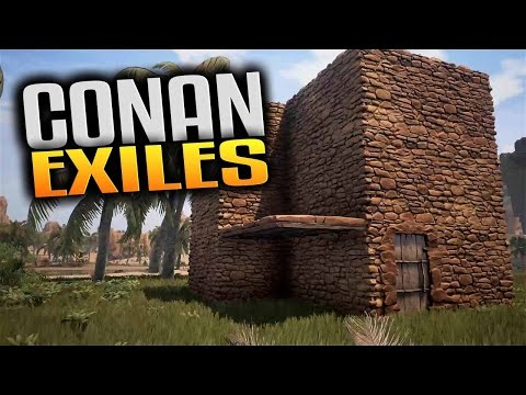Conan Exiles Gameplay - Base Building & Food Poisoning (Let's Play Conan Exiles)