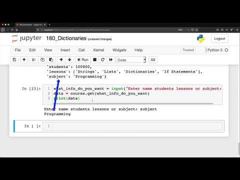 Python: Dictionaries