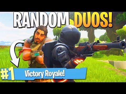SNIPER CLUTCH! - Random Duos RETURNS! - PS4 Pro Fortnite Random Duos Partner Gameplay!