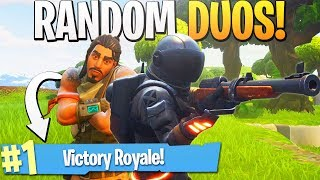 SNIPER CLUTCH! - Random Duos RETURNS! - PS4 Pro Fortnite Random Duos Partner Gameplay!