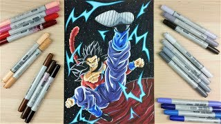 Drawing ✖️ GOHAN SSj4 Full Body in SPACE ✖️ | TolgArt