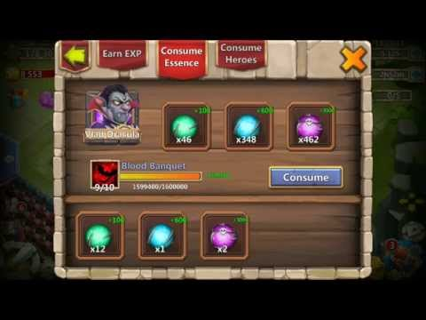 Castle Clash Vlad Dracula TO SKill 10 Of 10 200% DMG BEASTMODE!